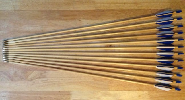 Competition matched wood arrows