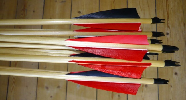 Cheap wood practice arrows