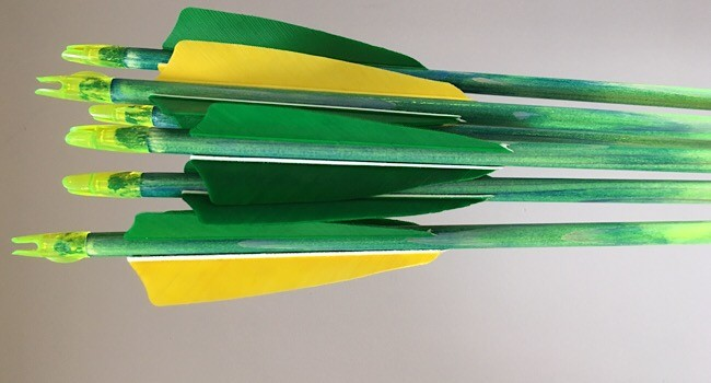 6x 26-27lb paint fade arrows