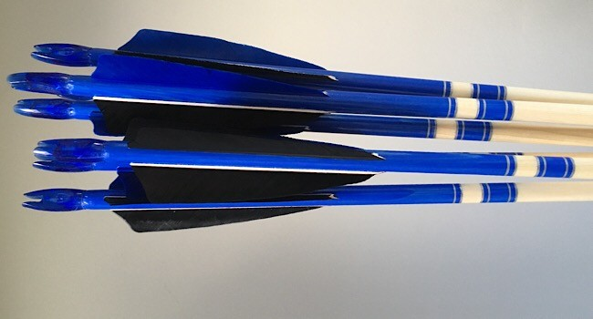 45-50lb Cheap crested arrows