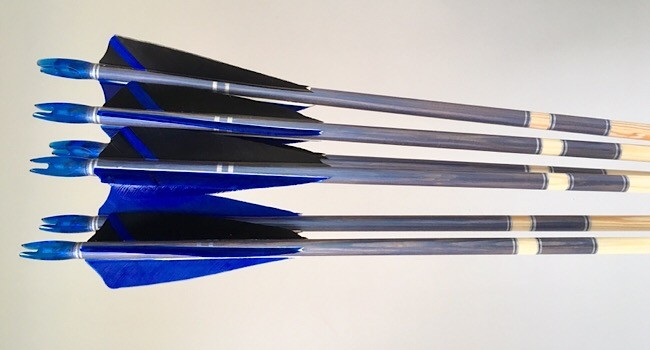 SOLD! Crested arrows with spliced helical fletching