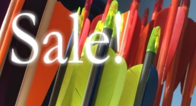 Sale arrows going cheap
