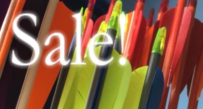 Sale arrows going cheap